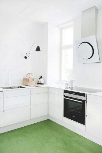 Smart design a friendly colorful kitchen floor for White linoleum flooring