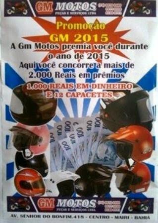 Promoção da loja GM Motos