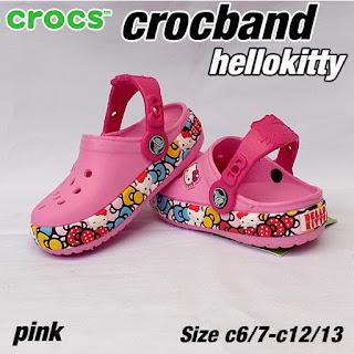 crocs anak hellokitty pink