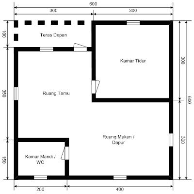 Gambar Denah Rumah Sederhana Type 36