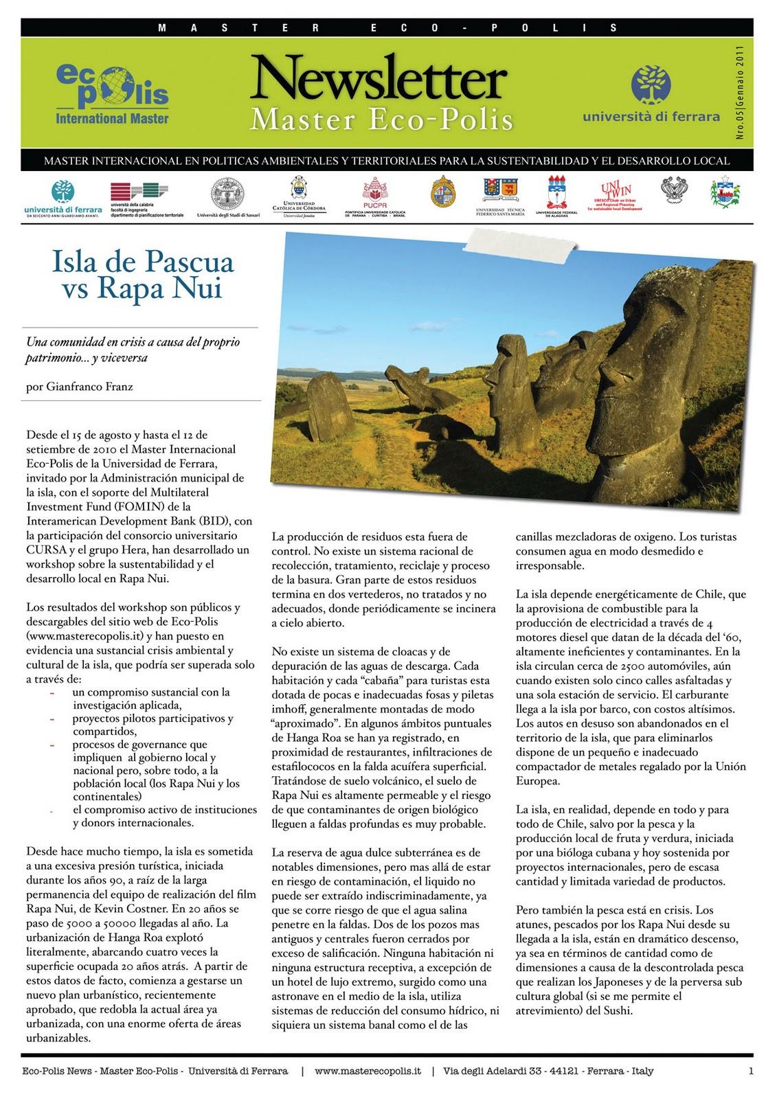 Master EcoPolis  Newsletter