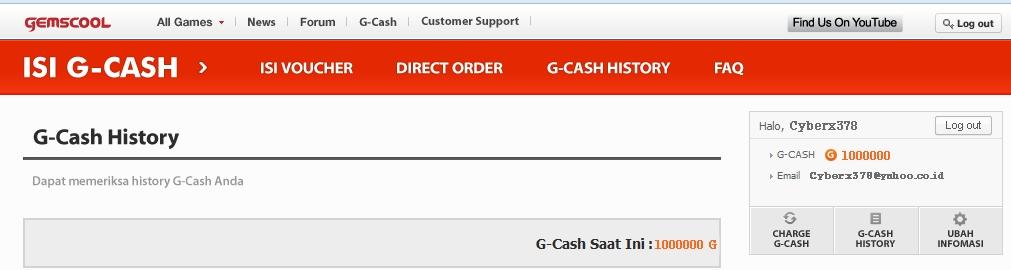 ... kalian May Di Id kalian tertera G-cash seperti gambar di bawah ini
