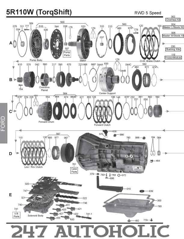 ford ax4n transmission valve body