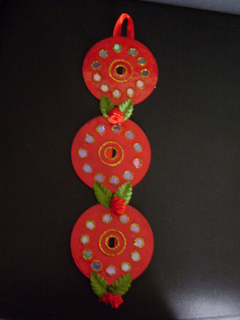 Art out of waste for Waste bangles wall hanging