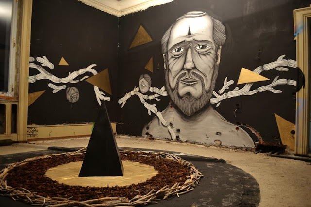 Italian Street Artist Newest Indoor Installation In Lugano, Switzerland For The Art Of Memory Project. 1