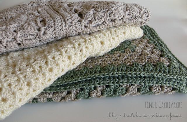 mantas tejidas al crochet - ajuar bebe