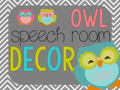 https://www.teacherspayteachers.com/Product/Owl-Speech-Room-Decor-1359905