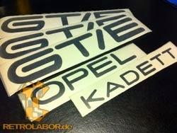 Opel Kadett GT/E decals