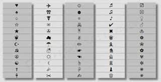 Imagem - Facebook Twitter symbols