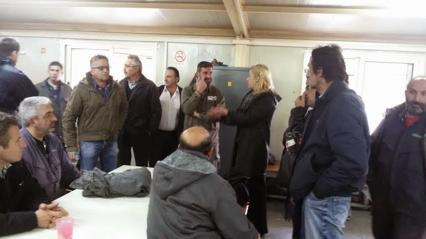Επίσκεψη της Περιφερειάρχη Αττικής, Ρένας Δούρου, στα Ναυπηγεία Ελευσίνας