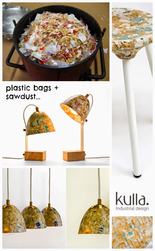 Upcycle When Sawdust Meets Plastic Bags