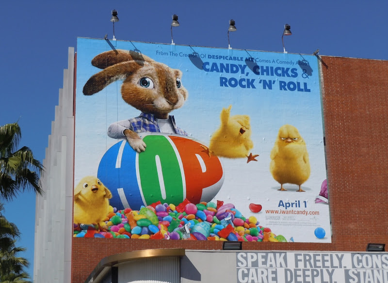Hop movie billboard