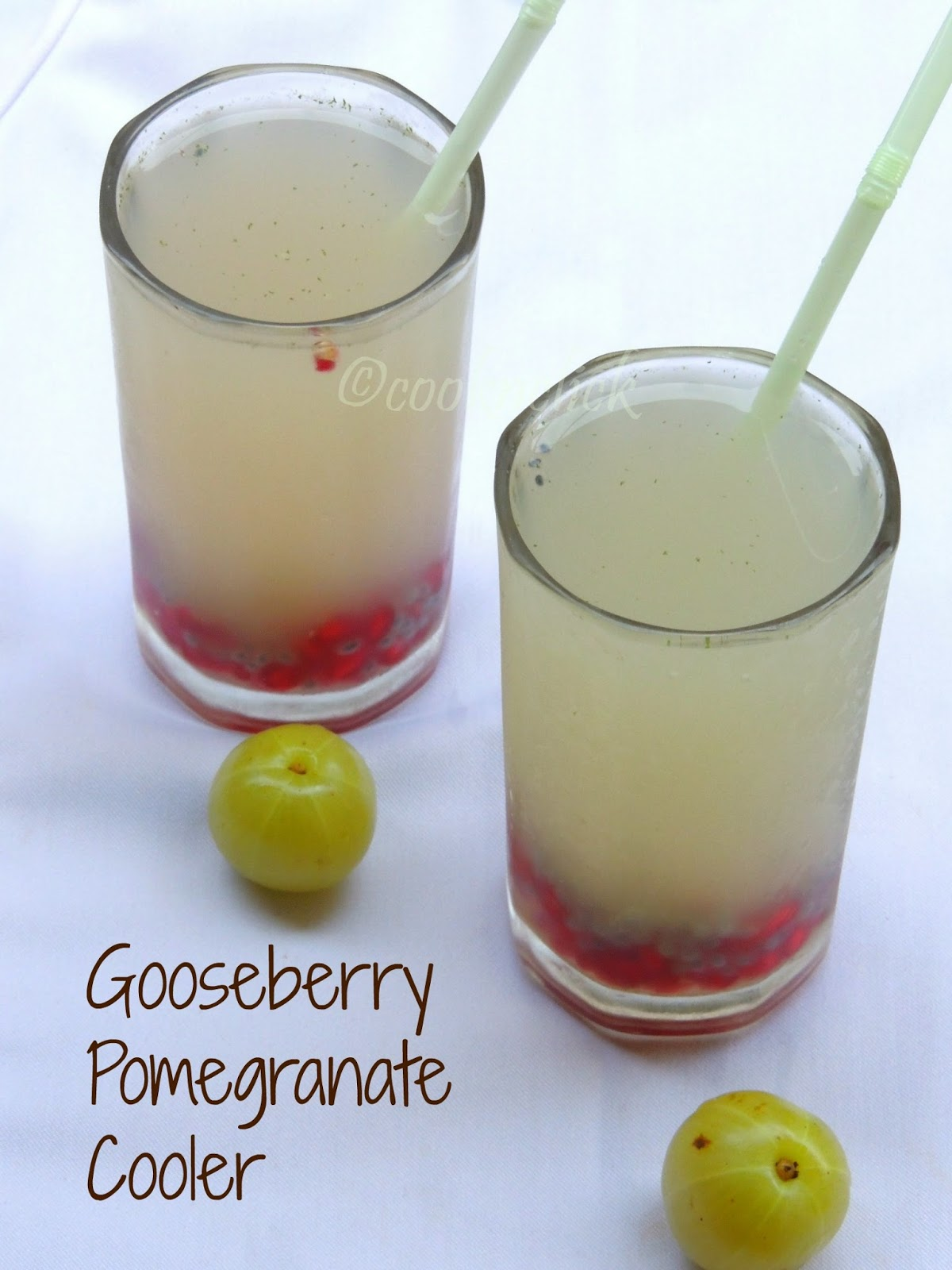 Gooseberry Pomegranate Cooler, Summer cooler