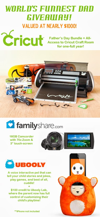 World's Funnest Dad Giveaway #fathersday #giveaway #cricut #familyshare #ubooly