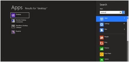 Cara Mengembalikan Desktop yang Hilang dari Start Screen Windows 8