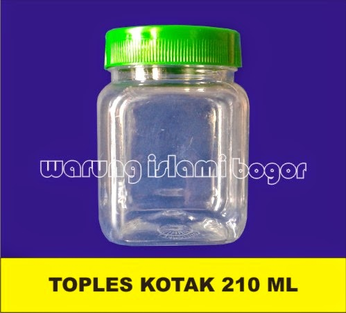 Jual Toples Plastik PET Bening Kotak 200ml