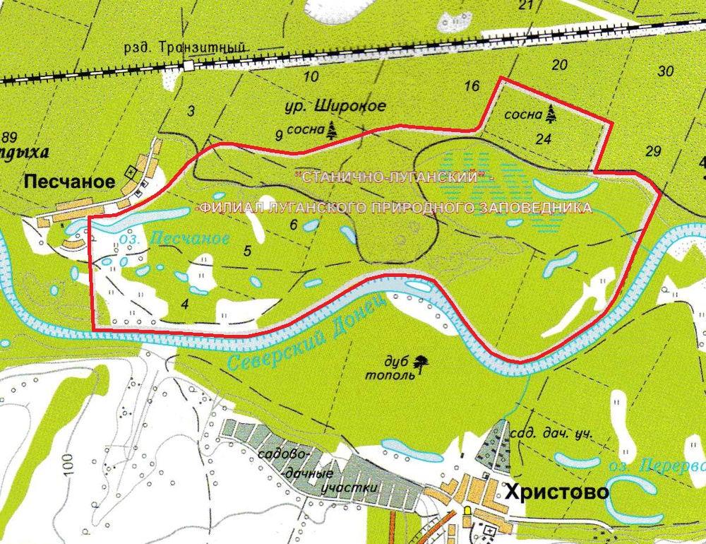 Левый берег реки Северский