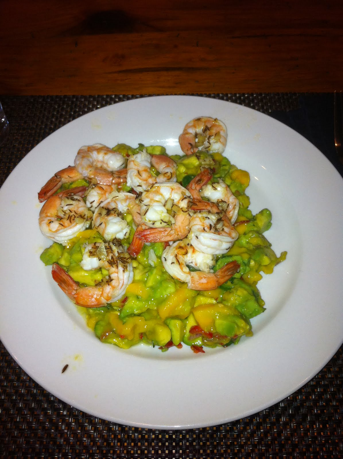 Today's new recipe was Mexican Seafood Sauté with Avocado Mango Salsa ...