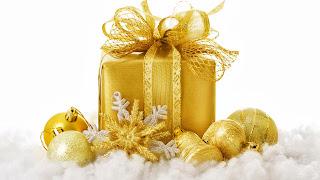 Imagenes fondos de pantallas y variedades octubre 2013 - Bolas de navidad doradas ...