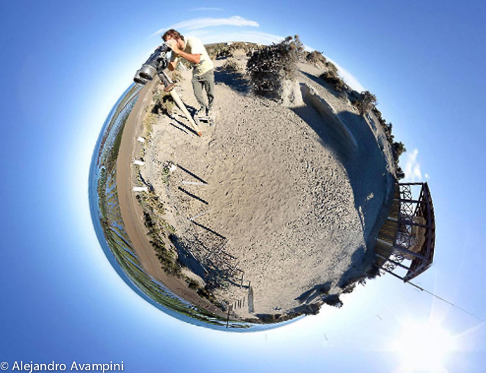 Punta Norte A spherical 360 panoramic photo about orcas season