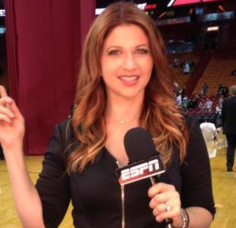 Rachel Nichols of ESPN at the Celtics-Heat NBA season opener
