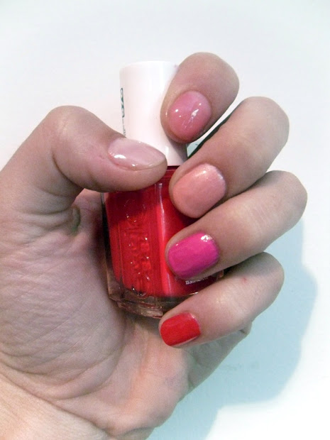 college gloss diy nails rainbow