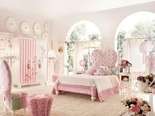 habitación chica adolescente en rosa