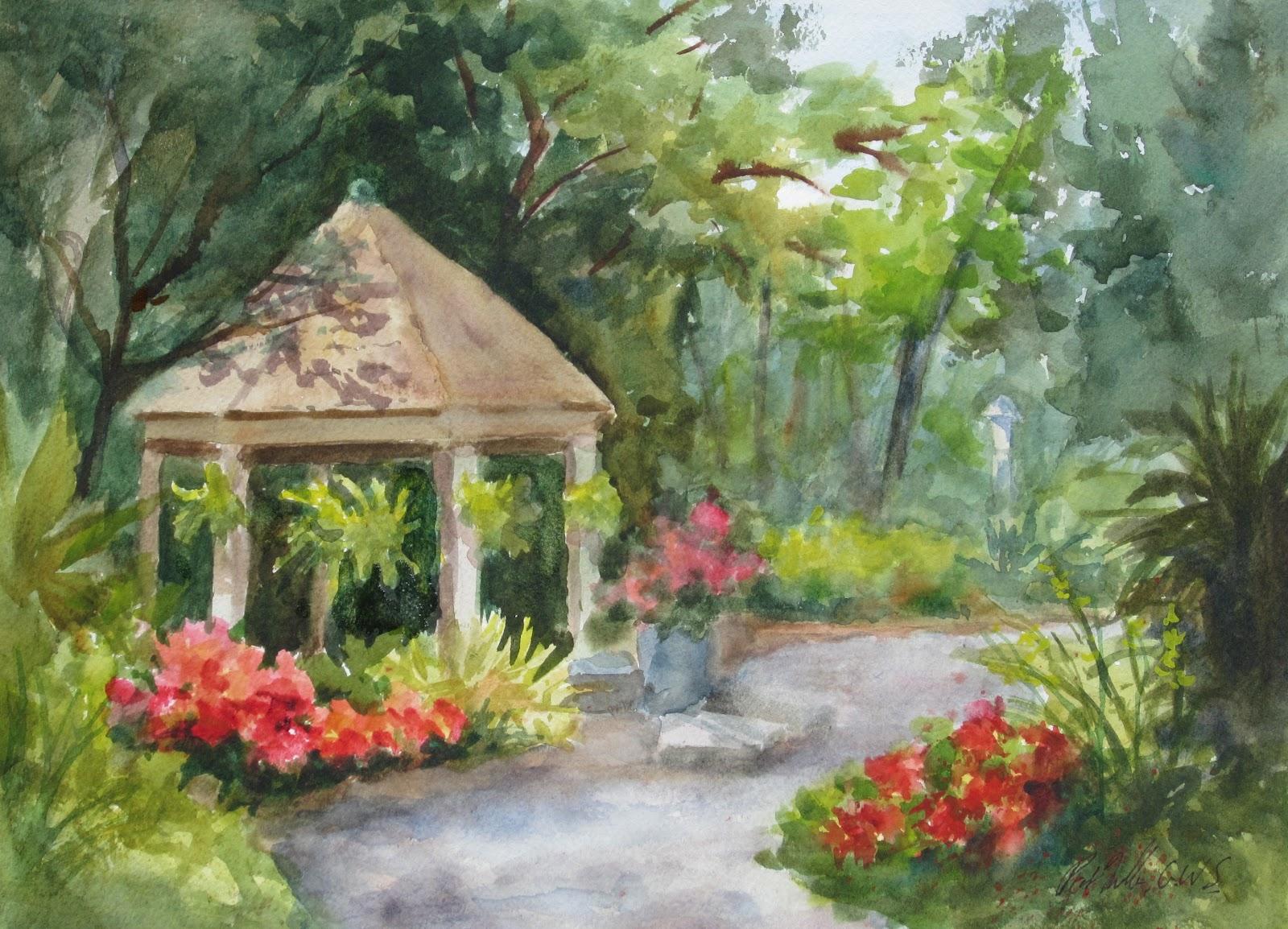 Garden paintings simple