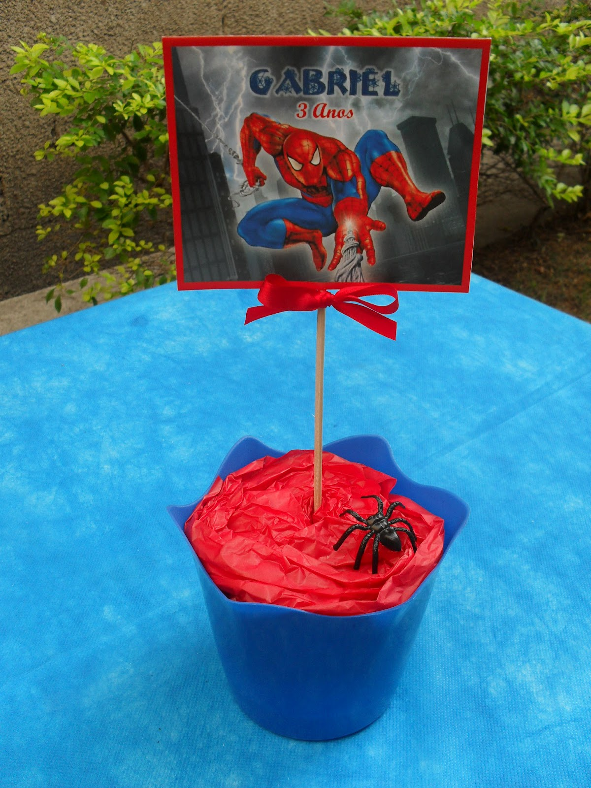 Coisinhas da Gi Ateli u00ea Enfeites de Mesa Homem Aranha Cachepots -> Enfeites De Mesa Do Homem Aranha