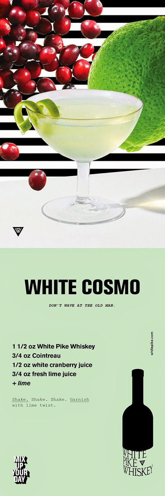 White Pike White Cosmo Recipe Card