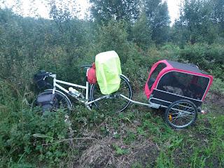 cykel med hundkärra