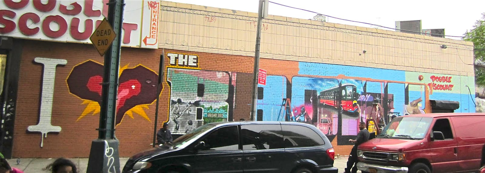 The making of i love the bronx mural on simpson street and westchester avenue bronx new york