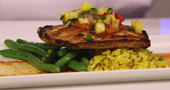... mahi seared mahi mahi with grilled grilled pineapple mahi mahi food