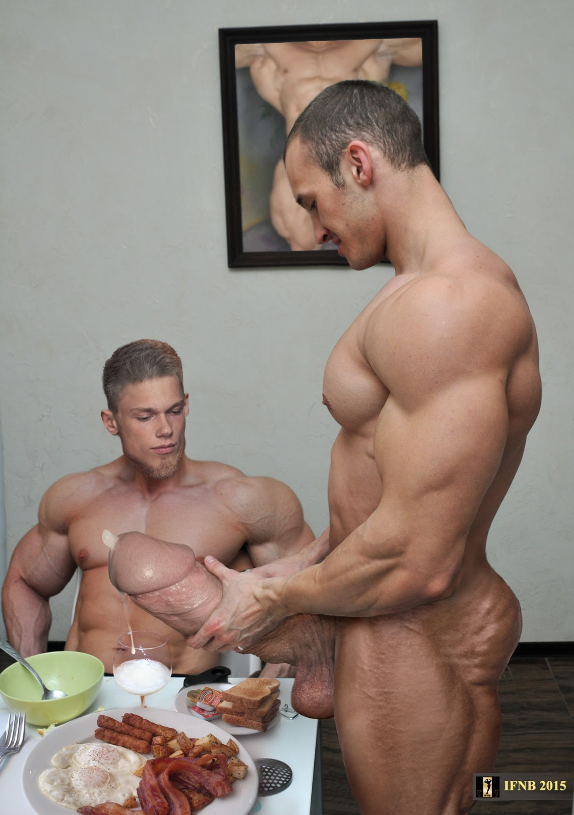 gay muscle huge cock