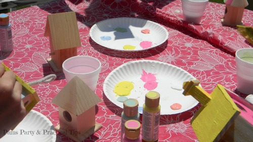 Birdhouse Craft, Woodland Party