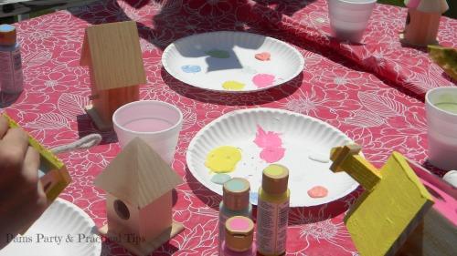 Birdhouse Craft, Woodland Party