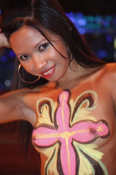 bring on the girls body paint nude rabbit