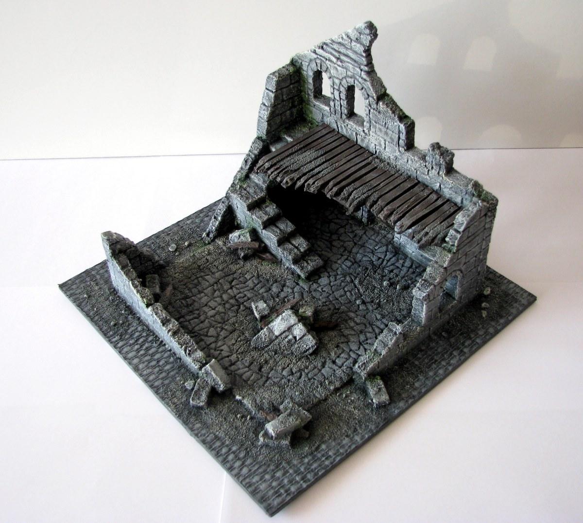 Makieta Władca Pierścieni Ruiny budynku Osgiliath