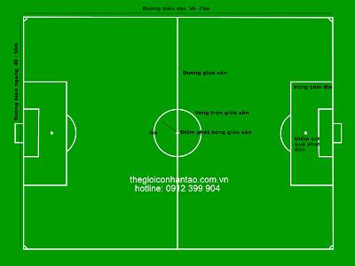 Kích thước sân cỏ nhân tạo sân bóng đá 7 người tiêu chuẩn VFF