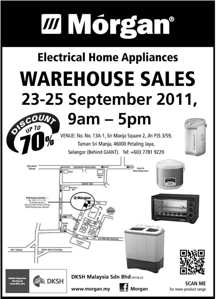 Morgan Electrical Home Appliances Warehouse Sales 23