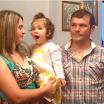 Ο Βασίλης και η Ελένη Κατσάμπη βάφτισαν την κόρη τους
