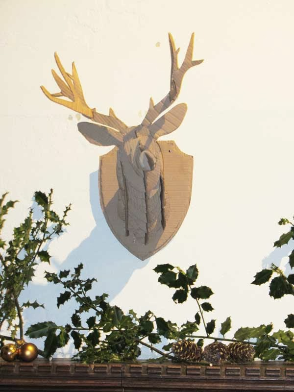 The bumbling bee d i y cardboard stag head - Cardboard stag head ...