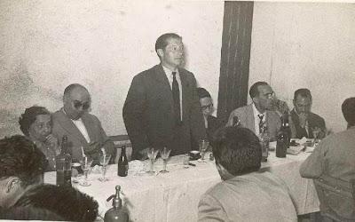 Parlamento del Alcalde d Castellar de N'Hug en el III Torneo Nacional de Ajedrez de La Pobla de Lillet 1957