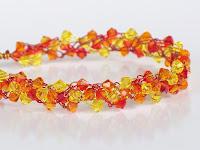 Sunny Wire Crochet Braidlet with Swarovski Crystals