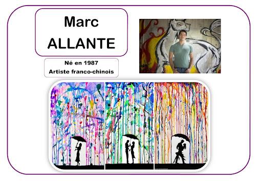 Portrat d'artiste en maternelle Marc Allante