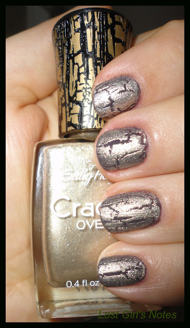 sally hansen antiqued gold crackle overcoat swatch
