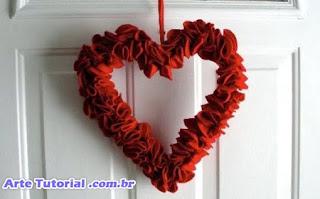 Guirlanda em formato de coração