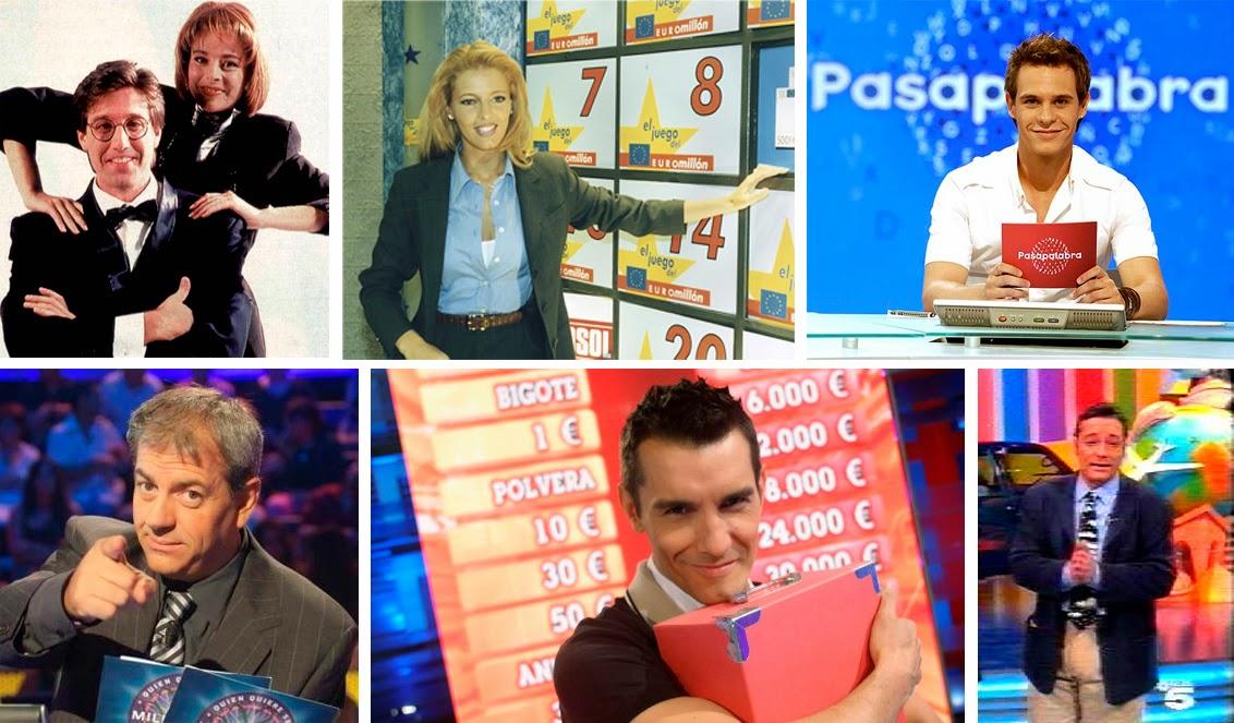 Allá tú, Pasapalabra, El juego del Euromillóm, VIP Noche, 50x15, La ruleta de la fortuna