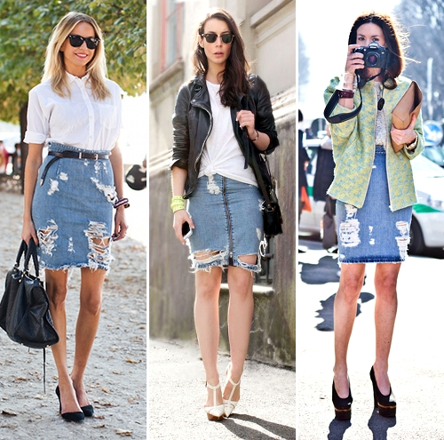 What do you think of denim skirts? Too dated, or anyone can still ...