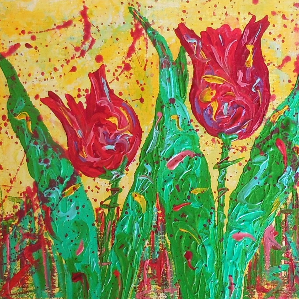 Kimberly conrad daily paintings flower challenge painting for Modern flower paintings